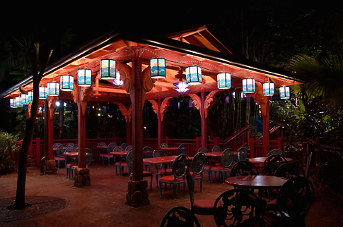 Flame Tree BBQ at Night