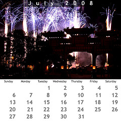 July 2008 Jewel Case Calendar