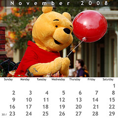 November 2008 Jewel Case Calendar