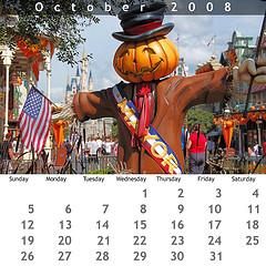 October 2008 Jewel Case Calendar