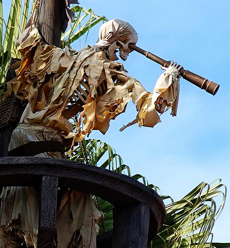 Pirates of the Caribbean sign at the Magic Kingdom in Walt Disney World