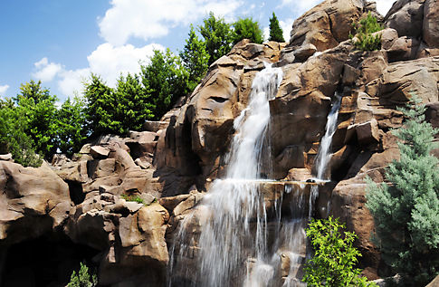 Canada's Rocky Mountain Waterfalls in Epcot
