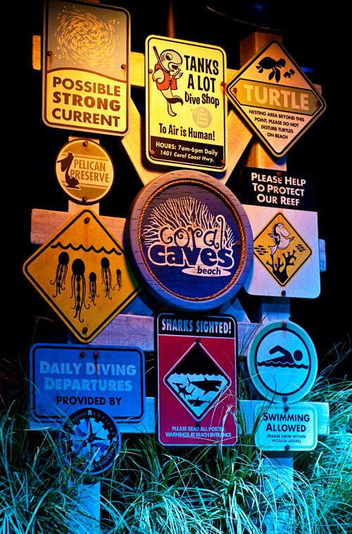 Queue sign from the Seas with Nemo and Friends at Epcot