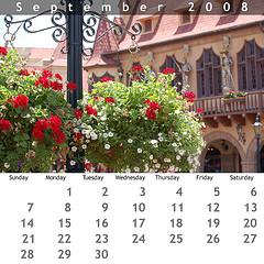 September 2008 Jewel Case Calendar