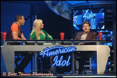 American Idol Experience Judges at Disney's Hollywood Studios, Magic Kingdom, Walt Disney World, Orlando, Florida.