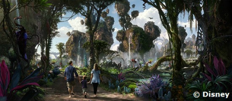 Disney rendering of Pandora - The World of Avatar in Disney's Animal Kingdom, Walt Disney World, Orlando, Florida