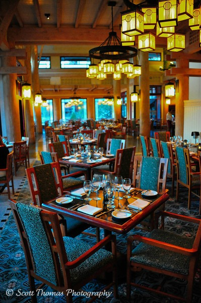 Artist Point Restaurant Dining Room Waiting For Wilderness Lodge Resort Guests To Arrive Walt Disney