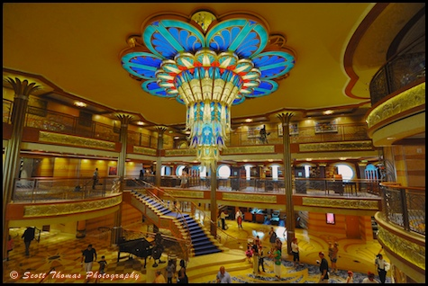 Disney Cruise Atrium Disney Dream Atrium as Seen