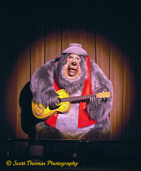 Big Al croons out a song during the Country Bear Jamboree in the Magic Kingdom's Frontierland, Walt Disney World, Orlando, Florida