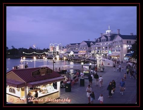 Disney's Boardwalk comes to life after sunset, Walt Disney World, Orlando, Florida