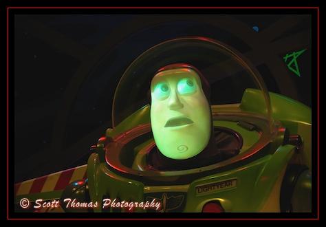 The Buzz Lightyear Audio-Animatronic in the Magic Kingdom, Walt Disney World, Orlando, Florida
