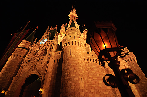 Cinderella Castle from Below
