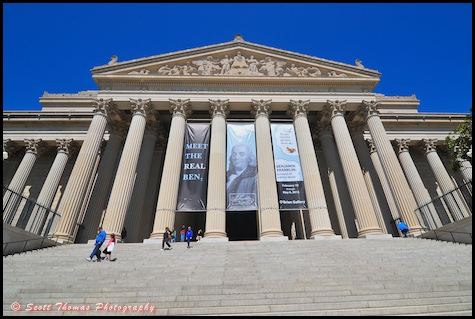 US National Archives building in Washington, DC.