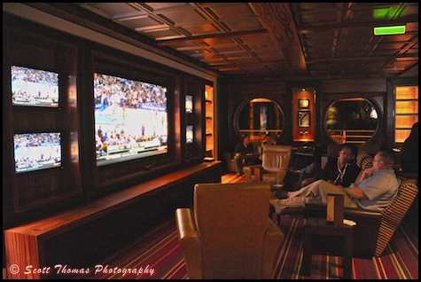 Sports bar 687 is located in The District of the Disney Dream, Disney Cruise Line.