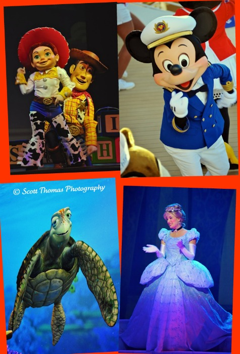 Disney characters found on the Disney Dream, Disney Cruise Line.