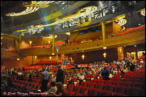 Inside the Walt Disney Theatre on the Disney Dream cruise ship.