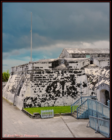 Fort Charlotte on Nassau, Bahamas.