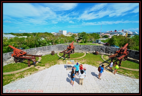 View from the top of Fort Fincastle on the Nassau Forts and Junkanoo Discovery Disney Dream excursion while visiting Nassau in the Bahamas.