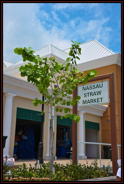 The famous Straw Market in Nassau, the Bahamas.