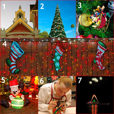 Walt Disney World Christmas Holiday Photo Collage, Orlando, Florida