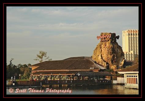 Cap'n Jack's and Rainforest Cafe restaurants at Downtown Disney Marketplace, Walt Disney World, Orlando, Florida