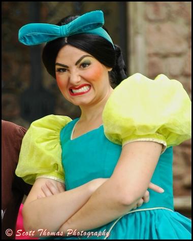 Drizella, one of Cinderella's step sisters, in the Magic Kingdom, Walt Disney World, Orlando, Florida