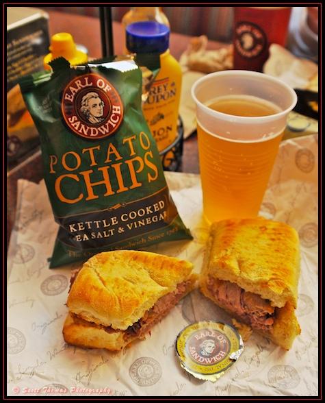 The Original 1762 roast beef sandwich at the Earl of Sandwich in Downtown Disney, Walt Disney World, Orlando, Florida