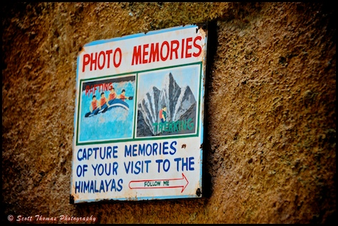 Photo memories sigh in the Expedition EVEREST queue in Disney's Animal Kingdom, Walt Disney World, Orlando, Florida.