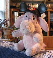 Little Eeyore with mouse ears