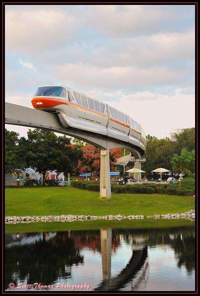 Monorail Orange in Epcot's Future World, Walt Disney World, Orlando, Florida