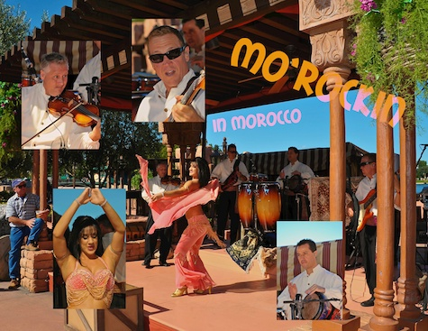 Mo'Rockin entertaining in Morocco in Epcot's World Showcase, Walt Disney World, Orlando, Florida