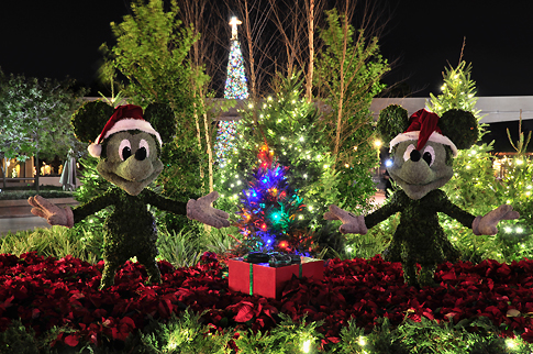 Holiday Topiary at Epcot