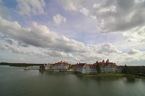 The Grand Floridian from the resort monorail on the way to the Magic Kingdom, Walt Disney World, Orlando, Florida.