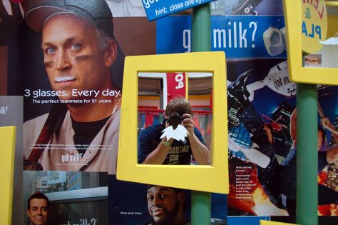 Got Milk? Mirror portrait at the New York State Fair, Syracuse, New York.