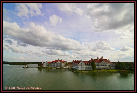 Grand Floridian Resort photographed from the Resort Monorail, Walt Disney World, Orlando, Florida