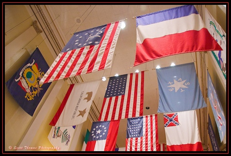 Hall of Flags inside the American Adventure in Epcot's World Showcase, Walt Disney World, Orlando, Florida