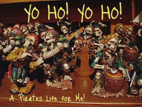 Some spooky pirates found in the Pirates Bazaar, Magic Kingdom, Walt Disney World, Orlando, Florida
