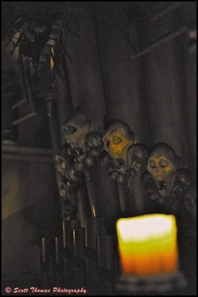 Graveyard queue at the Haunted Mansion in the Magic Kingdom, Walt Disney World, Orlando, Florida.