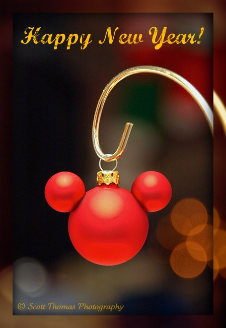 Mickey Mouse ears hanging ornament from Walt Disney World, Orlando, Florida