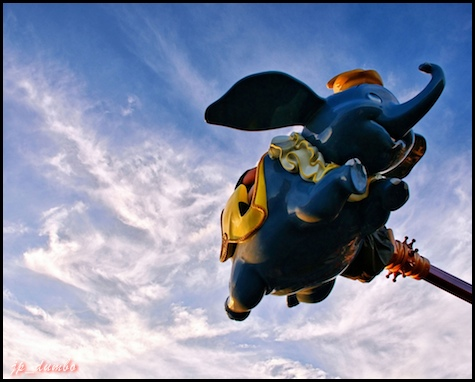 Dumbo the Flying Elephant by Express Monorail. © Joe Penniston