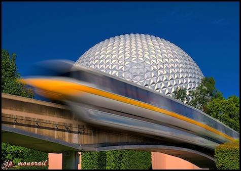 Yellow Streak by Express Monorail. © Joe Penniston