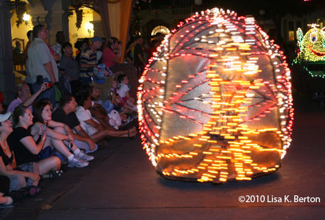 Crazy snail float in the Main Street Electrical Parade, Magic Kingdom, Walt Disney World, Orlando, Florida