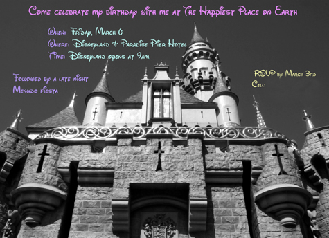 My Disneyland Birthday Extravaganza Planning