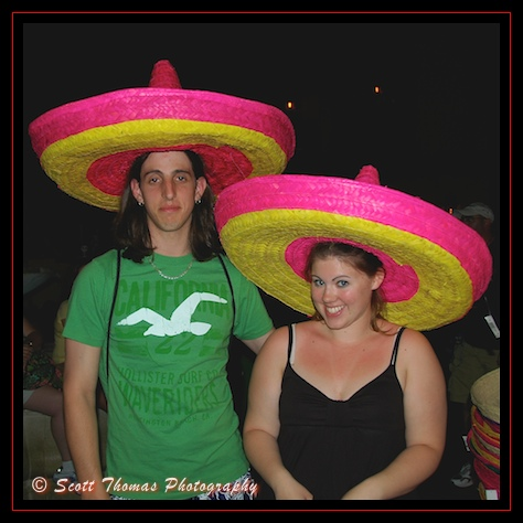 Members of the  EPCOT Sombrero Club in Epcot's Mexico pavilion, Walt Disney World, Orlando, Florida