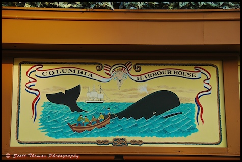 Sign in the Columbia Harbour House in the Magic Kingdom, Walt Disney World, Orlando, Florida.