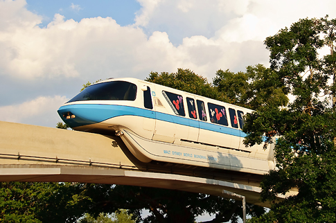 Monorail Circling Epcot's Future World