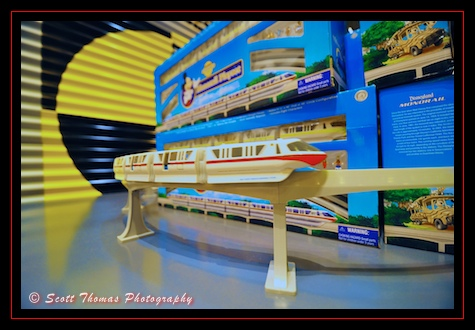 Monorail Playset running in Epcot's Test Track Specialty Shop, Walt Disney World, Orlando, Florida