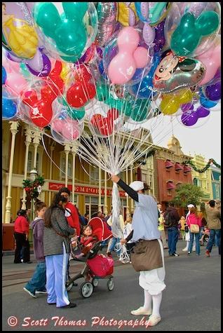 A Main Street USA Balloon vendor, Walt Disney World, Orlando, Florida