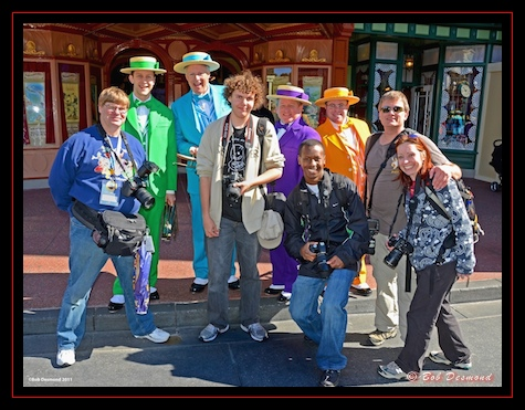 The Dapper Dans pose with the AllEar.net gang on Main Street USA in the Magic Kingdom, Walt Disney World, Orlando, Florida.