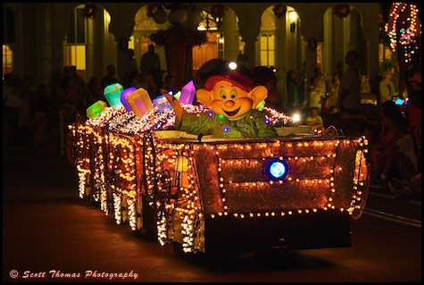 Main Street Electrical Parade with Dopey in the Magic Kingdom, Walt Disney World, Orlando, Florida